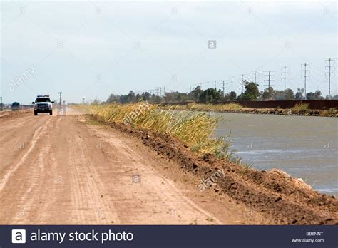 The US Mexico border along the All American Canal near ...