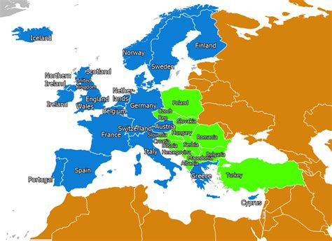 The west was made up of the Western alliance countries of ...