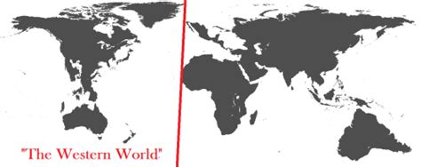 The Western World according to … everyone. - Maps on the Web