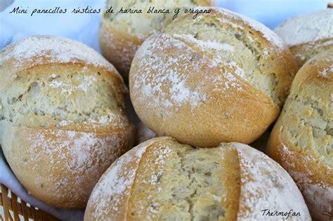 THERMOFAN: Mini panecillos rústicos de harina blanca y ...