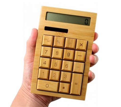This Bamboo Calculator Is a Throwback to Old School Solar ...