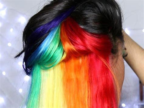 This blogger found a way to get hidden rainbow hair ...