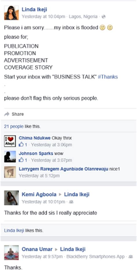 This Facebook page collecting money from people is not me o!