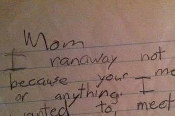 This Hilarious Running-Away-From-Home Note Is Completely Legit