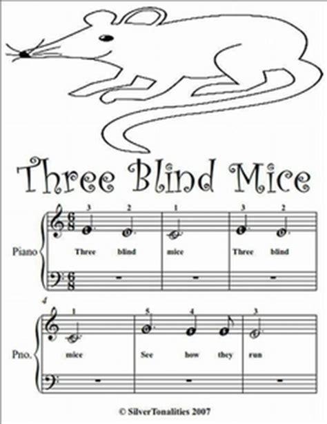 Three Blind Mice Beginner Tots Piano Sheet Music Pdf by ...