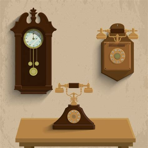 Three vintage objects Vector | Free Download