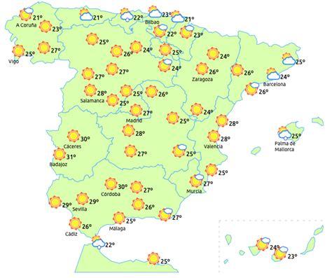 Tiempo seco en gran parte de España con temperaturas elevadas