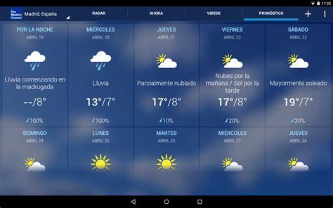 Tiempo   The Weather Channel   Aplicaciones de Android en ...