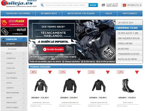 Tienda online moto producto Calleja