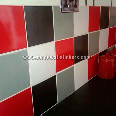 Tile Stickers red and black colors