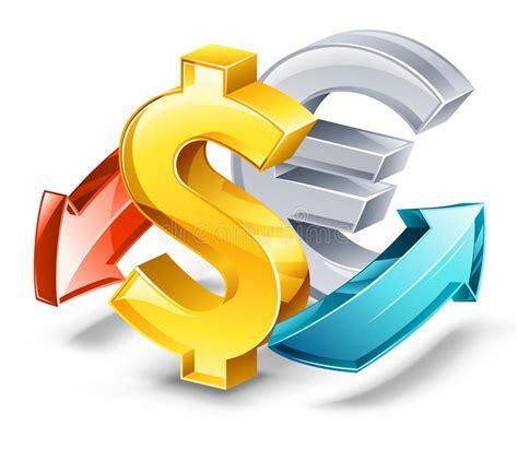 Tipo De Cambio: Dólar, Euro Ilustración del Vector ...