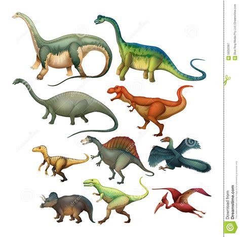 Tipo Differente Di Dinosauri Illustrazione Vettoriale ...