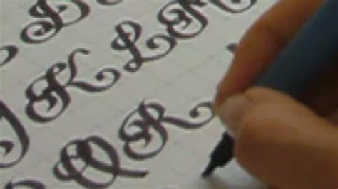 Tipografia abecedario cursiva   Imagui