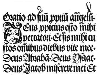Tipografía gótica. | El Lado Gráfico