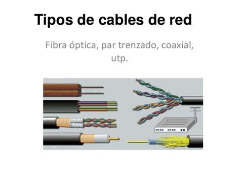 Tipos de cables de red