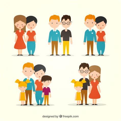 Tipos de Coleção Plano Família | Baixar vetores grátis