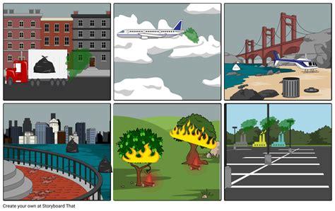 tipos de contaminacion Storyboard by sopotamadre