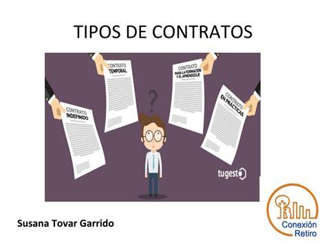 Tipos de contratos by Conexión Retiro - Issuu