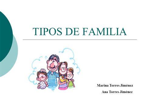 TIPOS DE FAMILIA Marina Torres Jiménez Ana Torres Jiménez ...