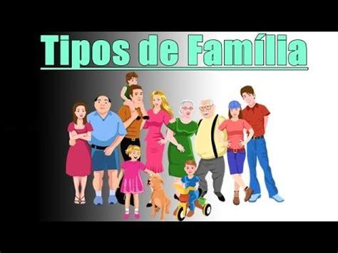 TIPOS DE FAMÍLIA   YouTube