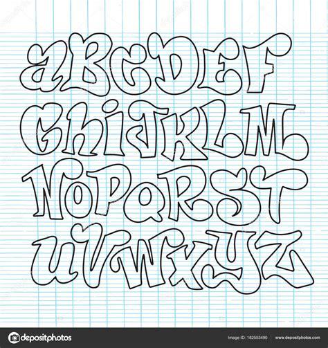 tipos de letras del abecedario vector conjunto de tipos de ...