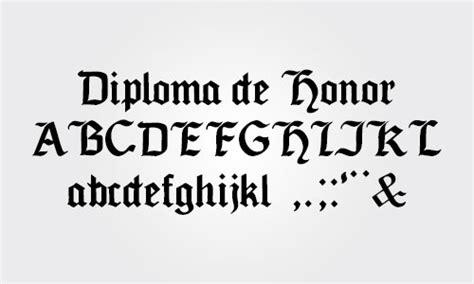 Tipos de letras para diplomas y certificados (góticas y ...