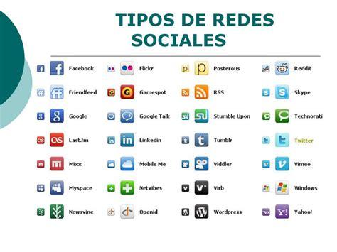 tipos de redes sociales: tipos de redes sociales