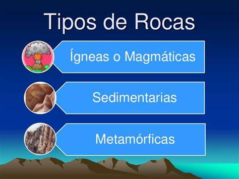 Tipos de Rocas Ígneas o Magmáticas Sedimentarias ...