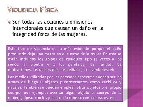 Tipos De Violencia Contra Las Mujeres