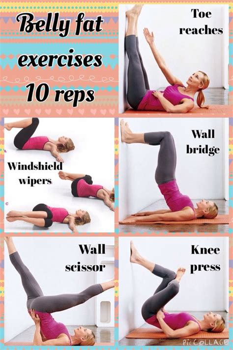 To lose belly fat, do the exercises shown in the pic 10 ...