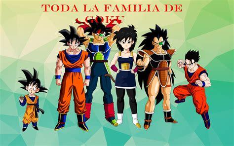 toda la familia de goku - YouTube