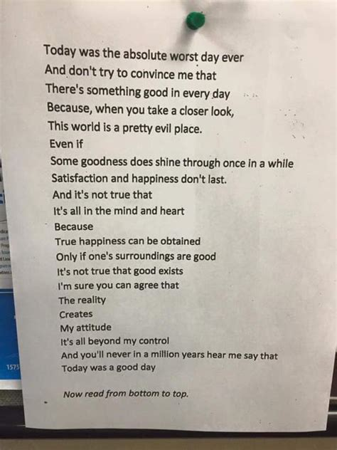 Today Was The Absolute Worst Day Ever Poem of Hope
