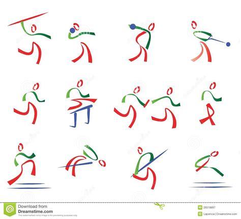 Todo O Jogo Do Atletismo De ícones Do Esporte Ilustração ...