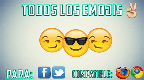 TODOS LOS EMOJIS PARA FACEBOOK Y TWITTER [PC]   YouTube
