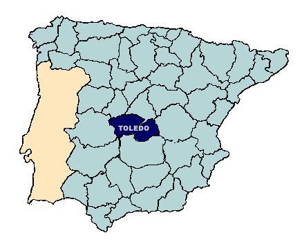 Toledo mapa de españa y Situación Toledo