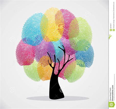 Toma Las Huellas Dactilares El árbol De La Diversidad ...