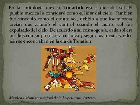 TONIATUH Dios Sol Azteca   ppt video online descargar