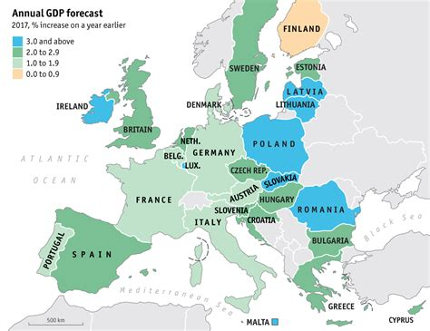 Top 30 maps and charts that explain the European Union ...