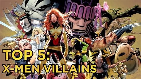 Top 5: X-Men Villains - YouTube