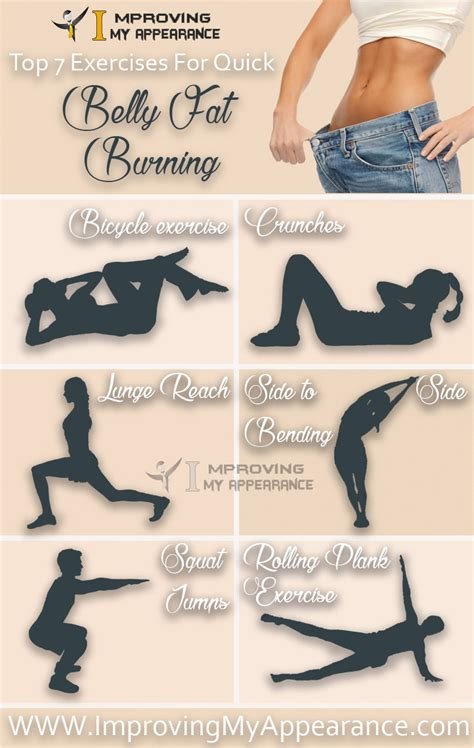 Top 7 Exercises For Quick Belly Fat Burning  Tummy ...