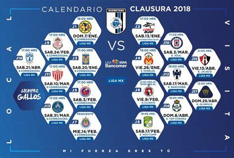Torneo Clausura 2018 define calendario | RASA INFORMA
