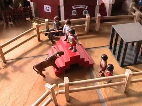 Toros de playmobils. encierro por el campo - YouTube