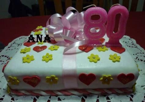 Torta un lindo regalo de cumpleaños de 80 Receta de GRINGA ...