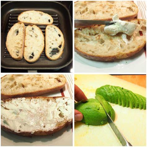 Tosta de salmón ahumado, aguacate y queso crema · El ...