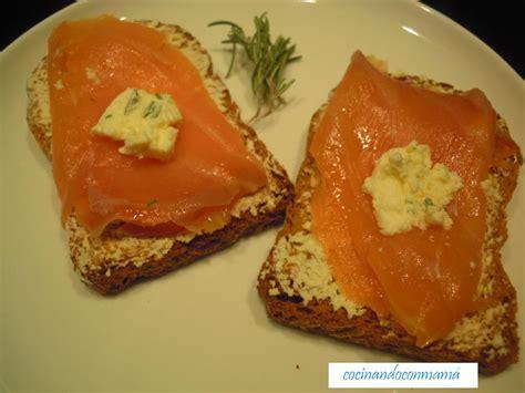 Tosta de salmón ahumado | Cocinando con mamá