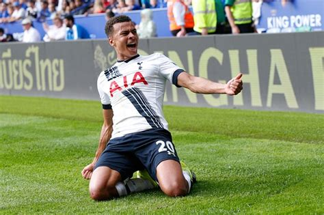 Tottenham's Dele Alli celebrates after scoring his first ...