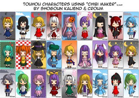 Touhou characters using Chibi Maker v1.1 by ShogounKaliend ...