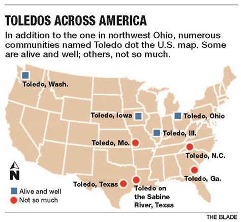 Towns tagged 'Toledo' once dotted the U.S.   The Blade