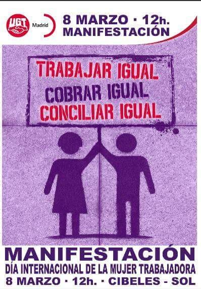 Trabajar IGUAL, Cobral IGUAL, Conciliar IGUAL | UGT-AYTOMADRID