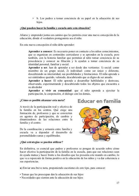 Trabajo de familias